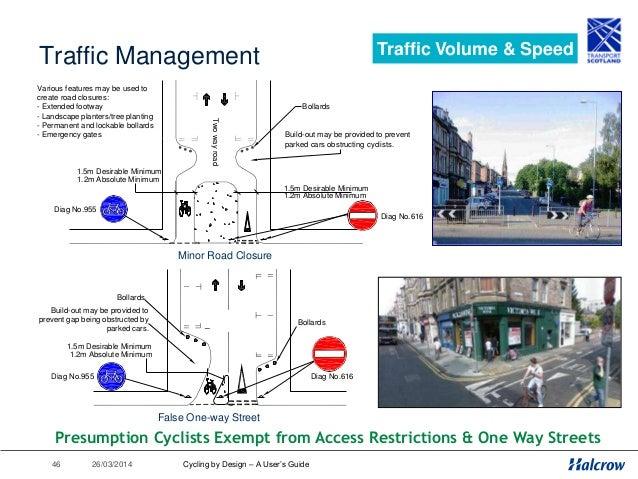 26/03/201447 Traffic Calming Traffic Volume & Speed Central Island Pinch Point 1.5m desirable min 1.2m absolute min Segreg...