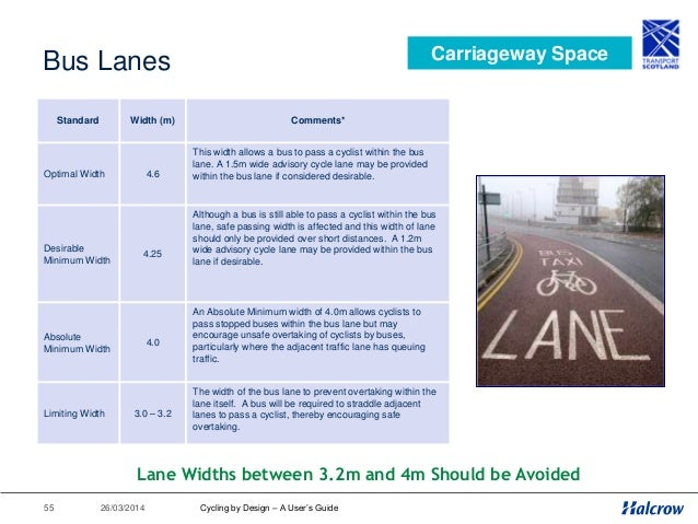 26/03/201456 Cycling by Design 2010 1. Introduction 2. Planning for Cyclists 3. Geometric Design 4. Traffic Volume & Speed...