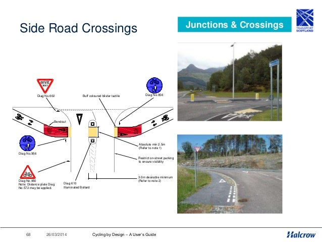 26/03/201469 Roundabouts Junctions & Crossings a) COMPACT ROUNDABOUT FOR USE BY MIXED TRAFFIC Central overrun area may be ...
