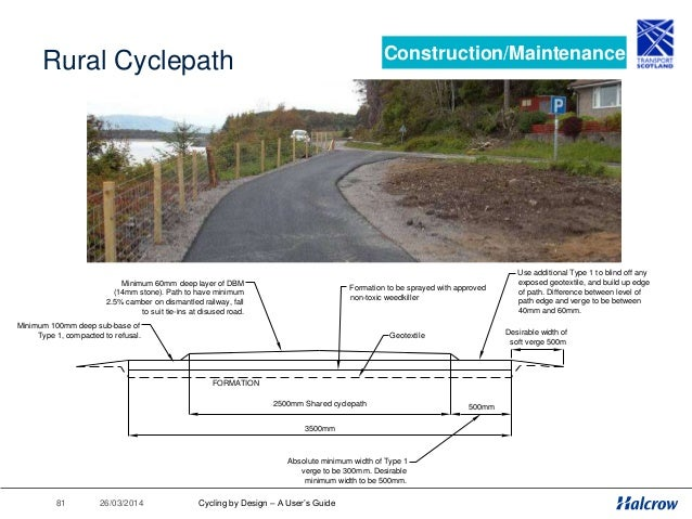 26/03/201482 Maintenance - Sweeping Construction/Maintenance Cycling by Design – A User's Guide