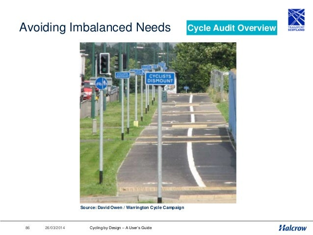 26/03/201487 Audits in Scotland The objectives of Cycle Audit are as follows: • To ensure that the current and future need...