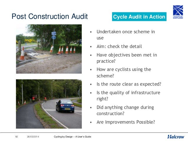 26/03/201493 Cycling by Design 2010 1. Introduction 2. Planning for Cyclists 3. Geometric Design 4. Traffic Volume & Speed...