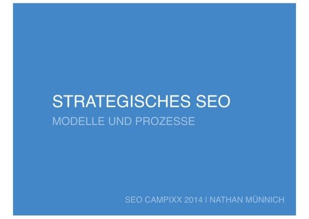Strategisches SEO | Modelle und Prozesse