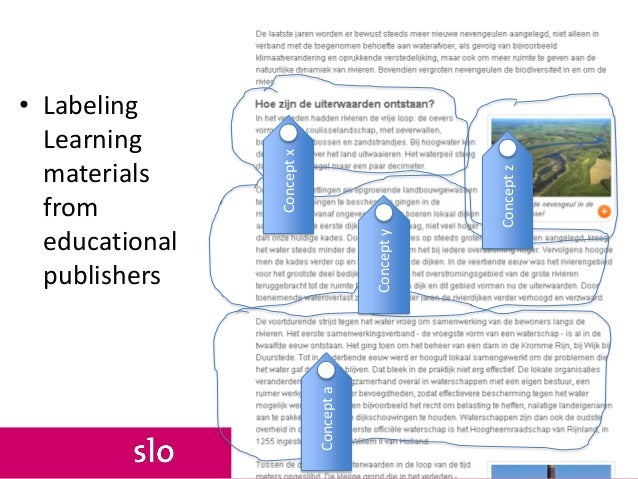 • Labeling Learning materials from educational publishers Conceptx Concepty Conceptz Concepta
