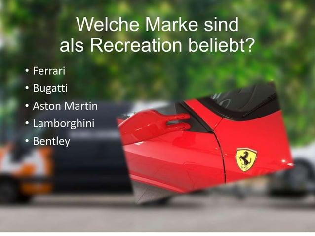 Beliebtheit der Recreations • Für wenig Geld kann man einen Traumwagen fahren • Eine Recreation hat oft bessere Leistungen...