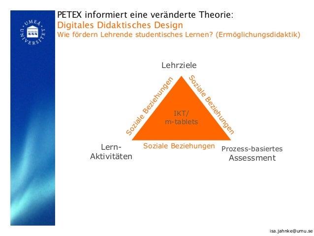 IKT/ m-tablets Lehrziele Lern- Aktivitäten Prozess-basiertes Assessment Soziale Beziehungen Soziale Beziehungen Soziale Be...