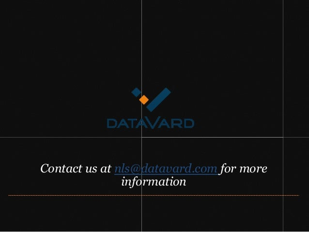 Contact us at nls@datavard.com for more information