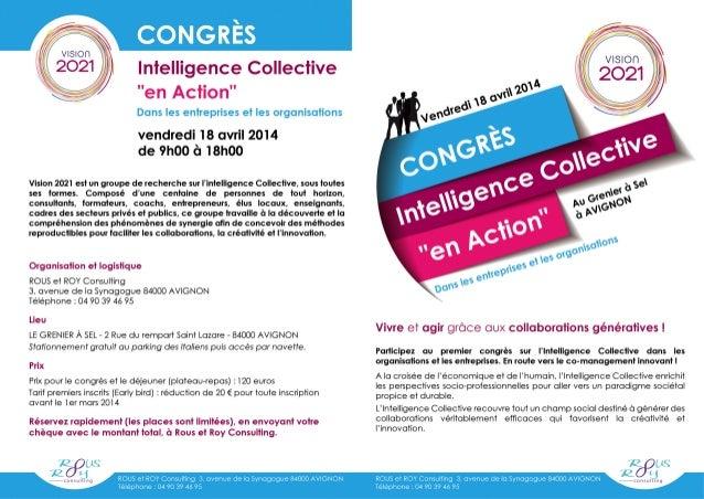 Congrès d'Intelligence Collective - 18 avril - Avignon