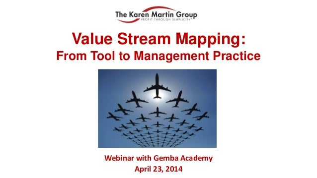 Value Stream Mapping: From Tool to Management Practice Webinar with Gemba Academy April 23, 2014