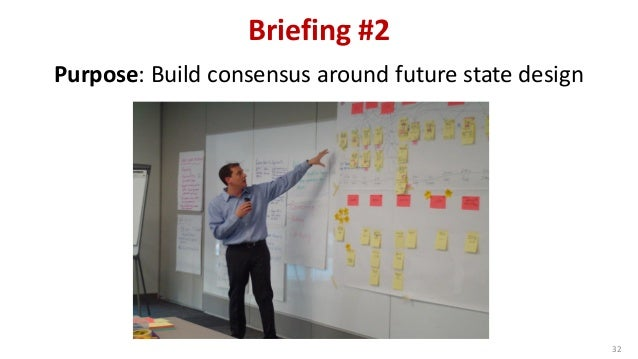 Briefing #2 32 Purpose: Build consensus around future state design