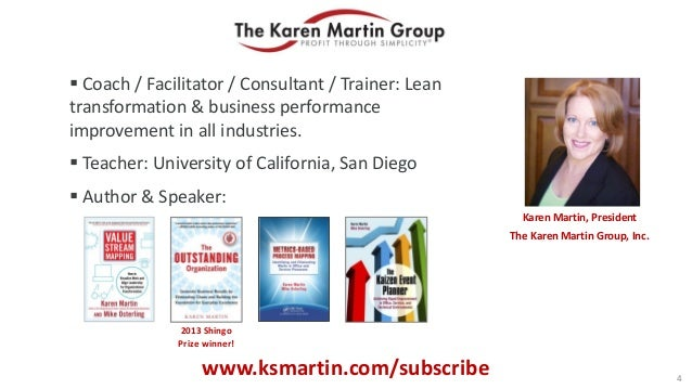  Coach / Facilitator / Consultant / Trainer: Lean transformation & business performance improvement in all industries.  ...