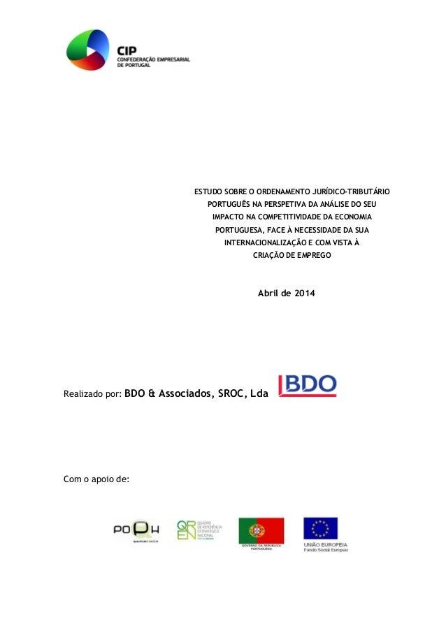 ESTUDO SOBRE O ORDENAMENTO JURÍDICO-TRIBUTÁRIO PORTUGUÊS NA PERSPETIVA DA ANÁLISE DO SEU IMPACTO NA COMPETITIVIDADE DA ECO...