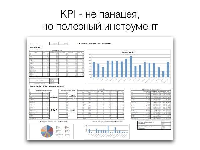 KPI - не панацея, но полезный инструмент