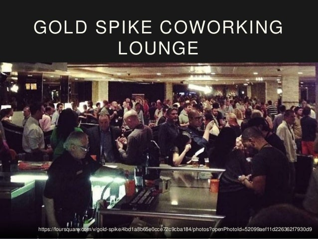 GOLD SPIKE COWORKING LOUNGE