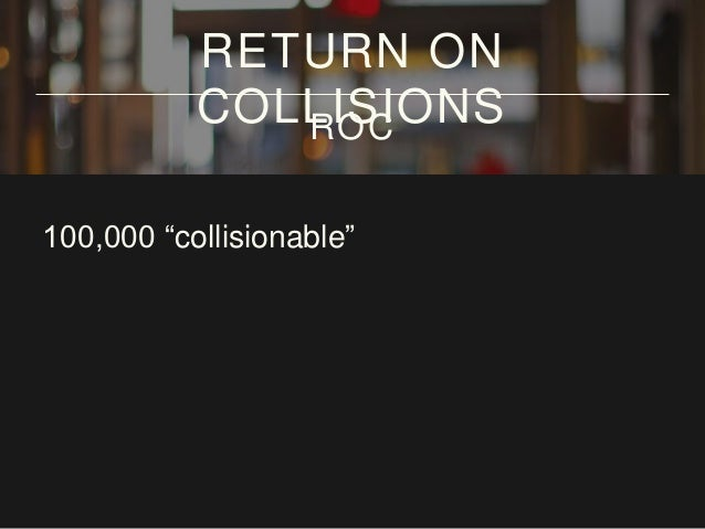 "100,000 ""collisionable"" community RETURN ON COLLISIONSROC"