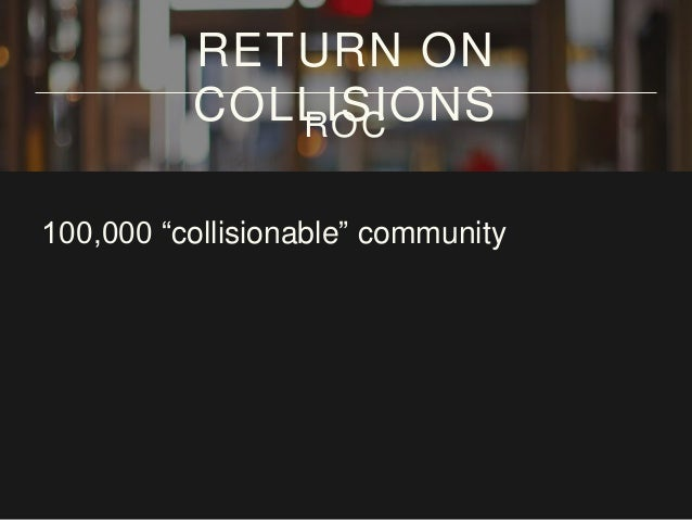 """100,000 """"collisionable"""" community hours RETURN ON COLLISIONSROC"""