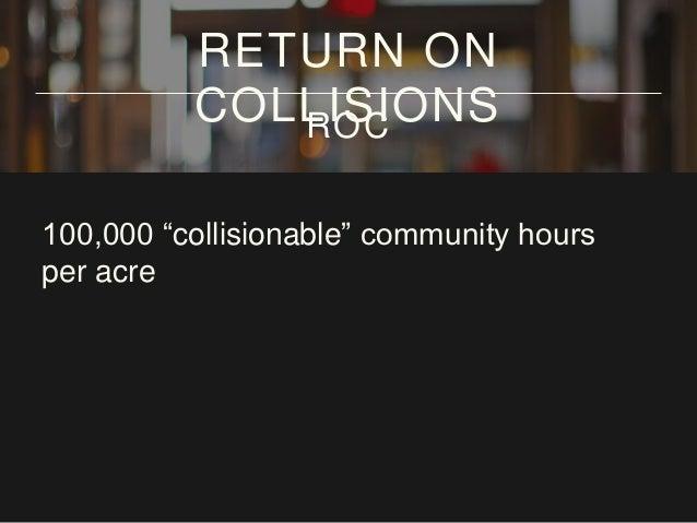 "100,000 ""collisionable"" community hours per acre per RETURN ON COLLISIONSROC"