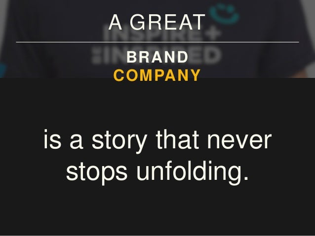 A GREAT BRAND COMPANY CITY COMMUNITY is a story that never stops unfolding.