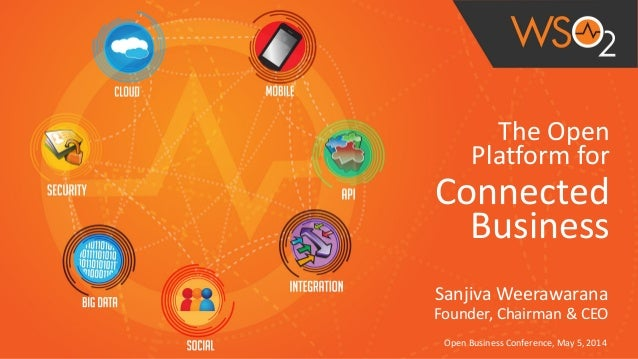 The  Open   Platform  for   Connected   Business Sanjiva  Weerawarana   Founder,  Chairman  &  CEO Ope...
