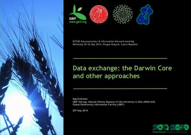 ECPGR Documentation & Information Network meeting Workshop 20-22 May 2014, Prague-Ruzyně, Czech Republic Data excha...