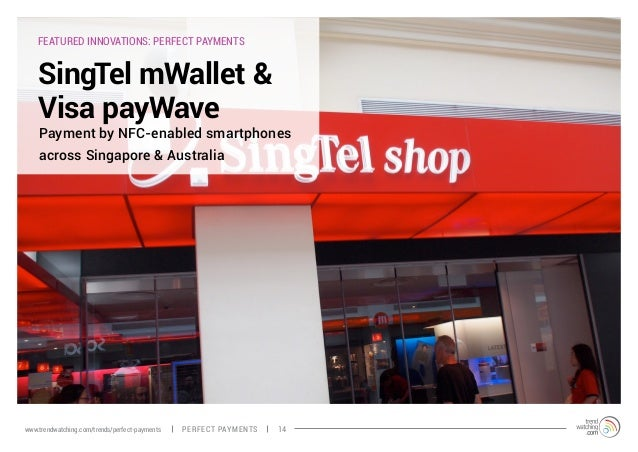 FEATURED INNOVATIONS: PERFECT PAYMENTS SingTel mWallet & Visa payWave Payment by NFC-enabled smartphones across Singapore ...