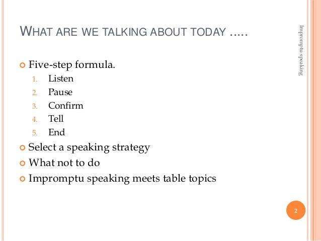 impromptu public speaking topics