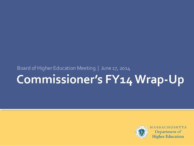 Board of Higher Education Meeting | June 17, 2014