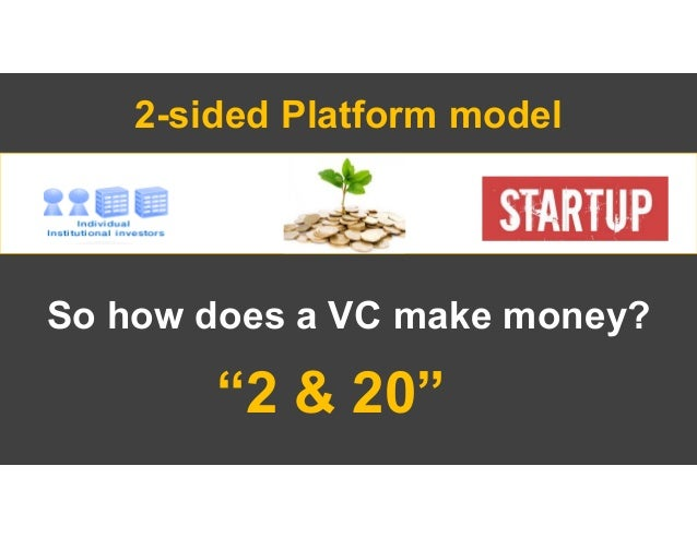 """""""2 and 20"""" Management Fee. VC raises a fund of e.g. $100M and gets $2M per year to operate the fund (staff, expenses, etc...."""