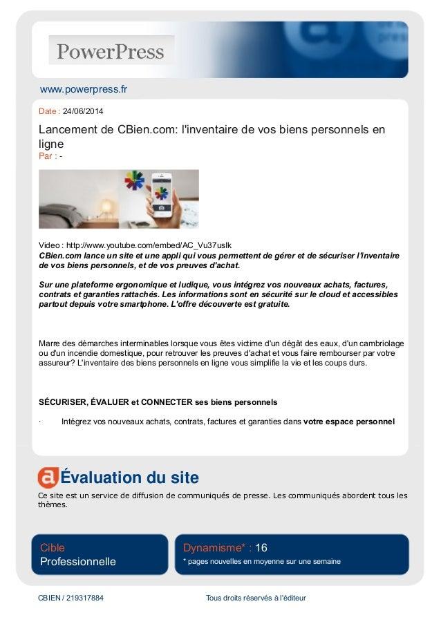 www.powerpress.fr Évaluation du site Ce site est un service de diffusion de communiqués de presse. Les communiqués aborden...
