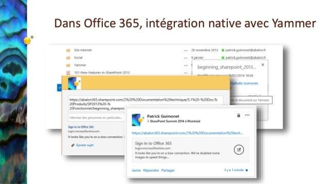 2014 06 27 cumulos groupe utilisateurs office 365 sharepoint yam - Yammer office 365 integration ...