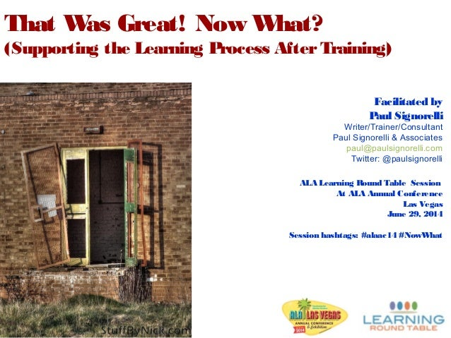 Facilitated by Paul Signorelli Writer/Trainer/Consultant Paul Signorelli & Associates paul@paulsignorelli.com Twitter: @pa...