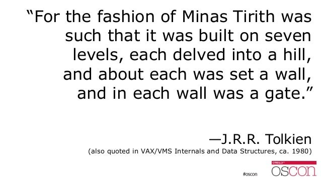 """""""For the fashion of Minas Tirith was such that it was built on seven levels, each delved into a hill, and about each was s..."""