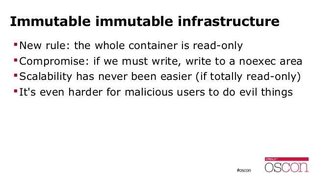 Recap (in no specific order!)  don't run things as root  drop capabilities  enable user namespaces  get rid of shady S...