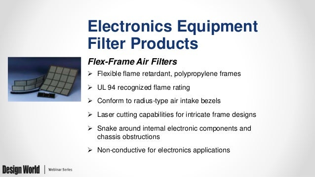 Air Filter Designs for Electronics Enclosures