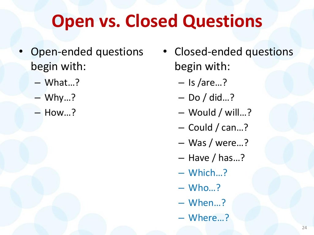 Open ended questions examples dating profiles
