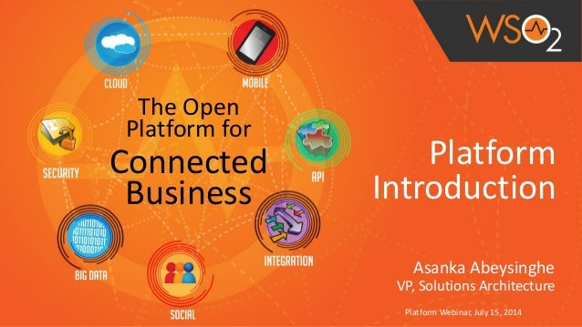 ! Platform	   	    Introduction Asanka	   Abeysinghe	    VP,	   Solutions	   Architecture Platform	   Webinar,	   July	   ...