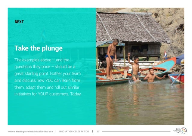 Take the plunge The examples above – and the questions they pose – should be a great starting point. Gather your team and ...