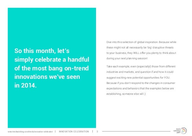 So this month, let's simply celebrate a handful of the most bang on-trend innovations we've seen in 2014. Dive into this s...