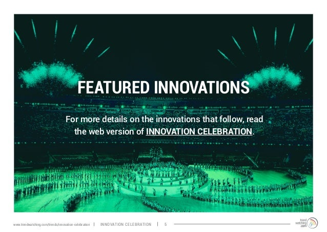 FEATURED INNOVATIONS For more details on the innovations that follow, read the web version of INNOVATION CELEBRATION. INNO...