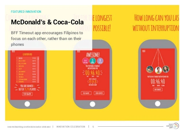 FEATURED INNOVATION McDonald's & Coca-Cola BFF Timeout app encourages Filipinos to focus on each other, rather than on the...