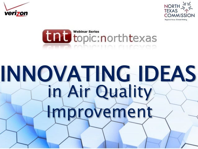 INNOVATING IDEAS in Air Quality Improvement