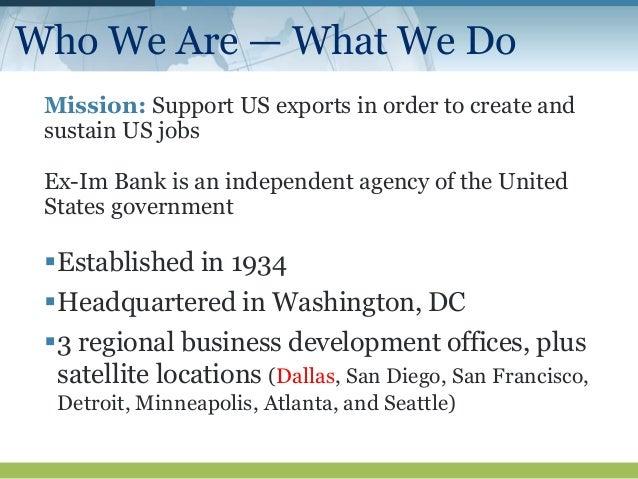 Topic: North Texas   Ex-Im Bank Success Stories Slide 3