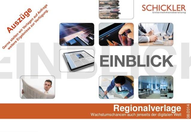 Regionalverlage Wachstumschancen auch jenseits der digitalen Welt 08/2014