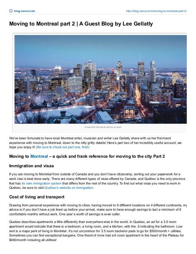 blog.navut.com http://blog.navut.com/moving-to-montreal-part-2/  Moving to Montreal part 2 | A Guest Blog by Lee Gellatly ...