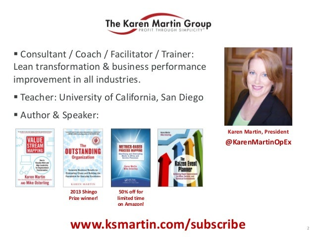  Consultant / Coach / Facilitator / Trainer: Lean transformation & business performance improvement in all industries.  ...