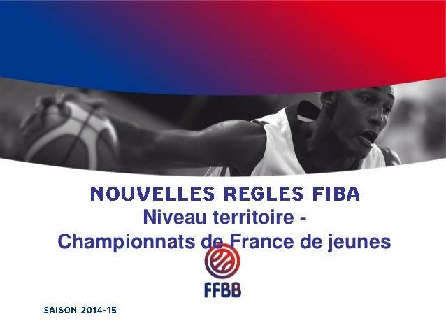 Niveau territoire - Championnats de France de jeunes