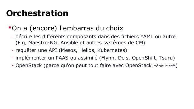TEST :  comment déterminer le  système d'orchestration  Docker qu'il vous faut ?