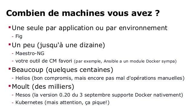 """En travaux : libswarm  Lancez un <truc> qui ...  - expose l'API Docker  - communique avec de """"vrais"""" hôtes Docker  - déma..."""