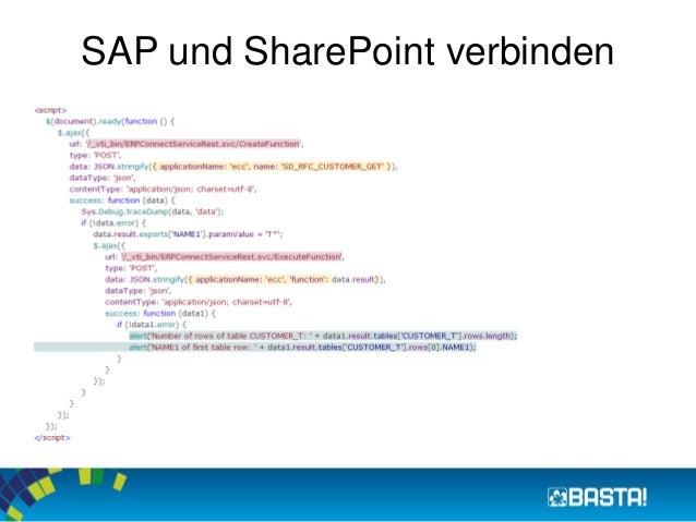 SAP und SharePoint verbinden