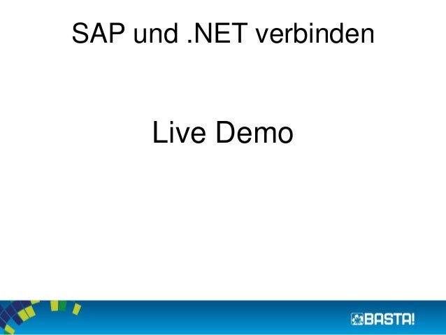 SAP und .NET verbinden  Live Demo